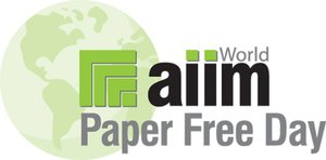 »World Paper Free Day« Logo