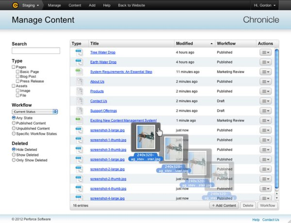 Content-Management mit »Perforce Chronicle« (Bild: Perforce Software)